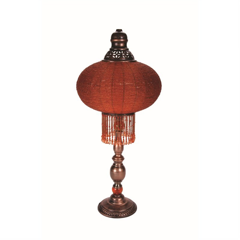 Oriental Table Lamp in Orange