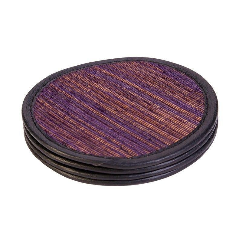 Set of 4 Jakarta Purple Coasters - 10cm