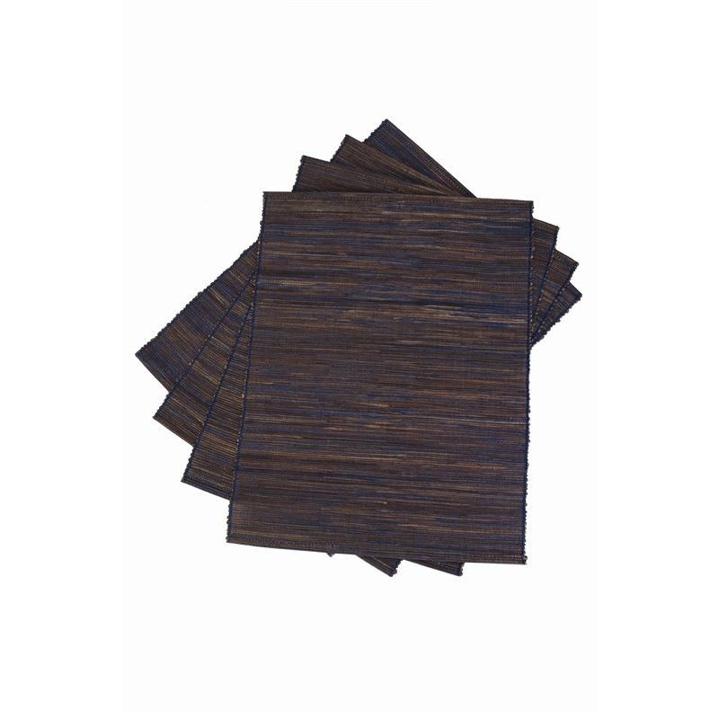 Jakarta Water Hyacinth Placemats S-4 - Navy - 30x45cm