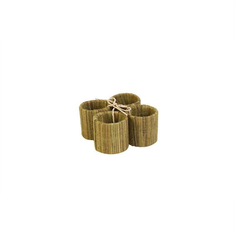 Jakarta Water Hyacinth Napkin Rings S-4 - Sage Green D:4cm