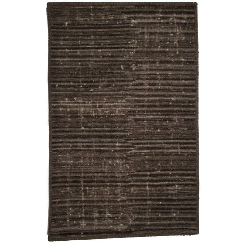 Distressed Wool Rug in Charcoal - 290x200cm