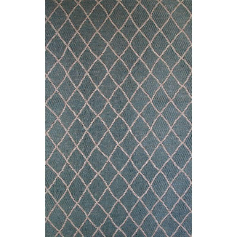 St Tropez Trellis 60x110cm Indoor/Outdoor Rug - Turquoise