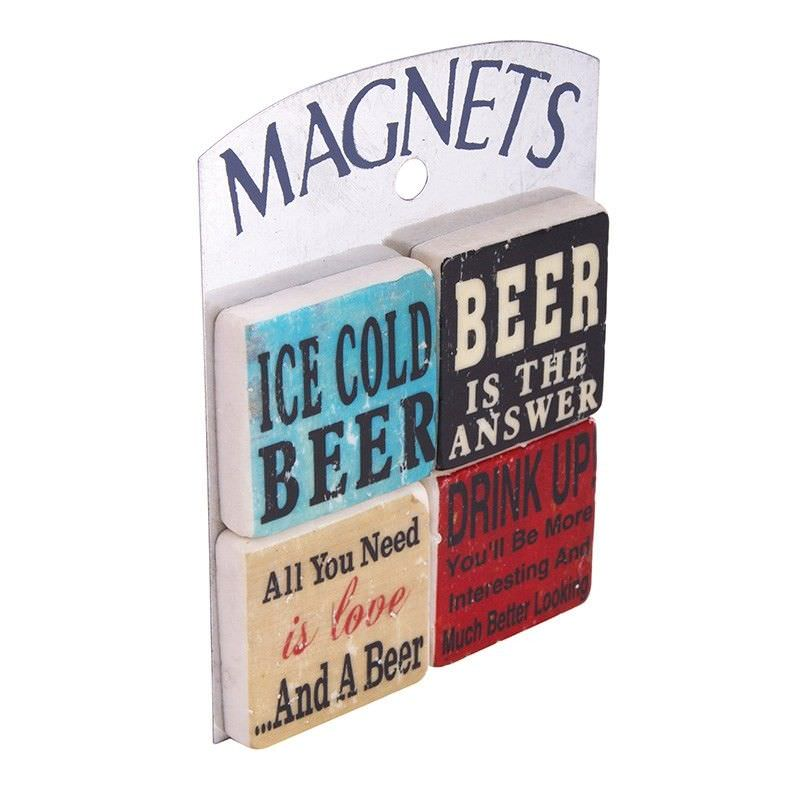 Set of 4 Magnets - Beers