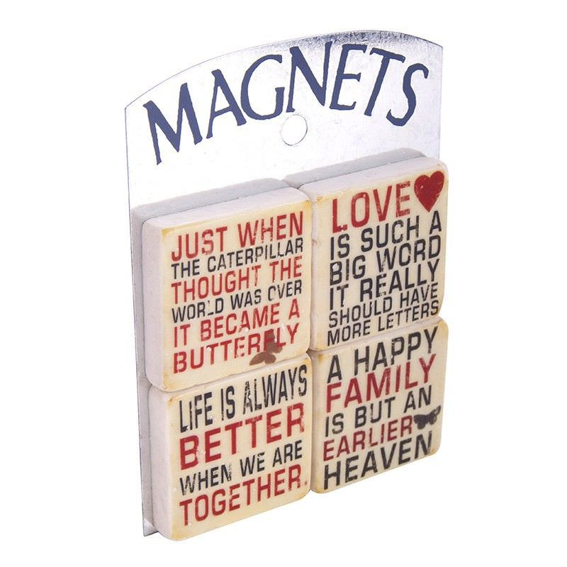 Set of 4 Magnets - Love