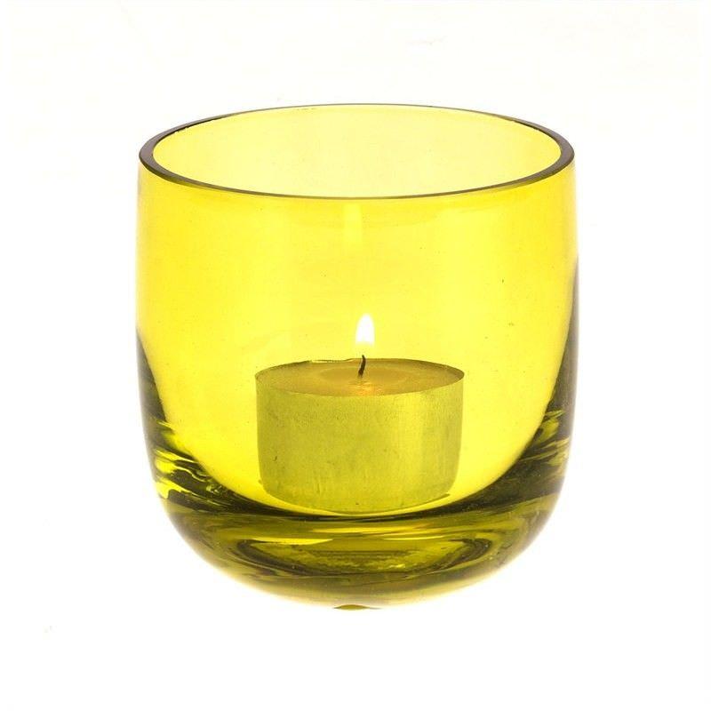 GlassTea Light Holder - Green