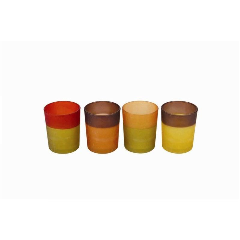 Set of 4 Frosted Tealight Holders