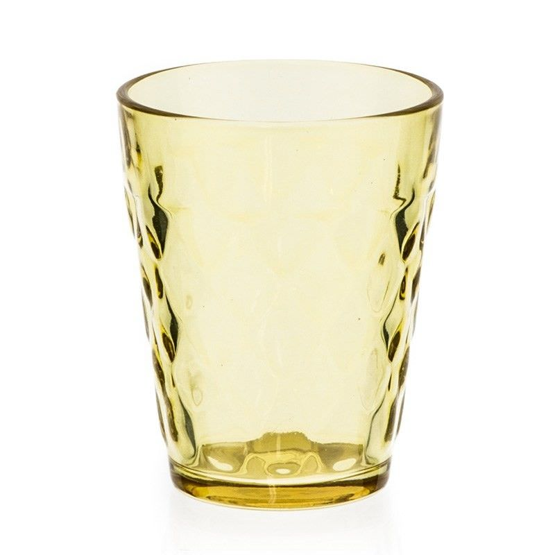 Yellow Glass Tealight Holder - 8.5cm
