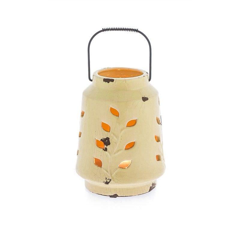 Yellow Ceramic Lantern