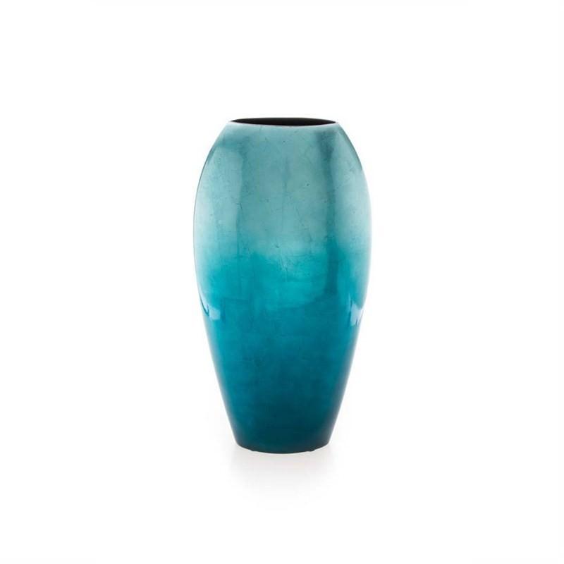 Large Tall Fading Vase - Aqua