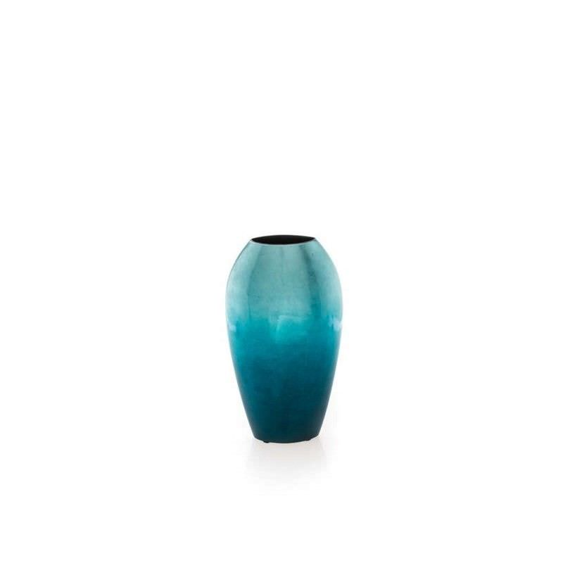 Small Tall Fading Vase - Aqua