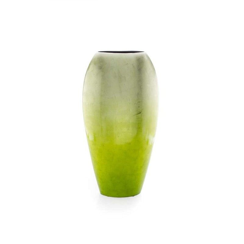 Large Tall Lime Green Fading Vase