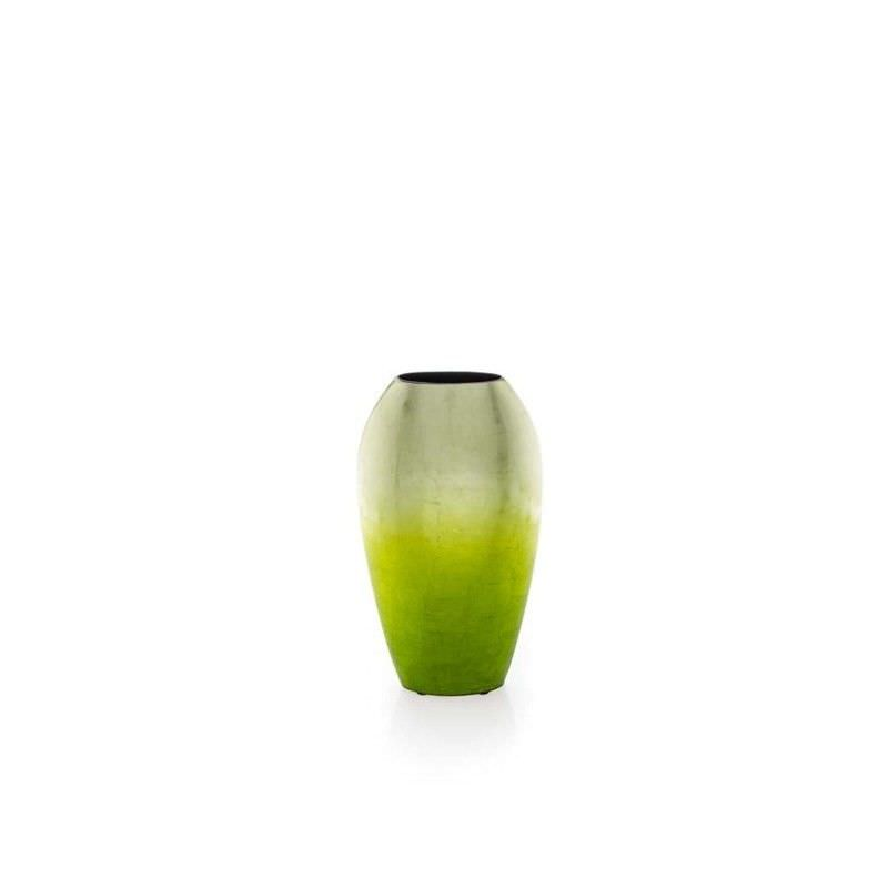 Small Tall Lime Green Fading Vase
