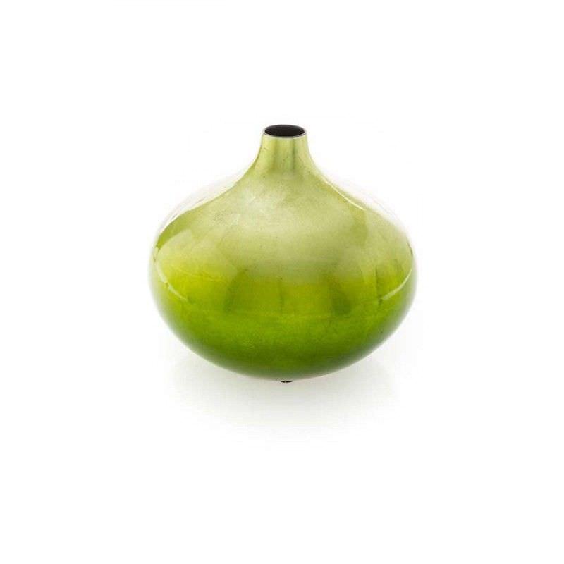 Lime Green Fading Squareuat Vase