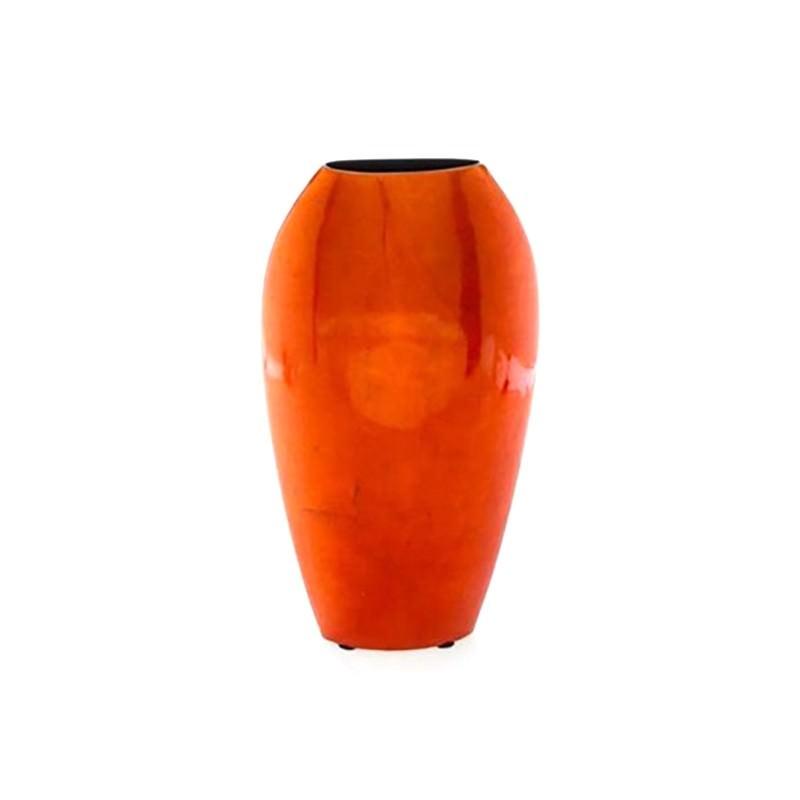 Medium Tall Flat Orange Vase