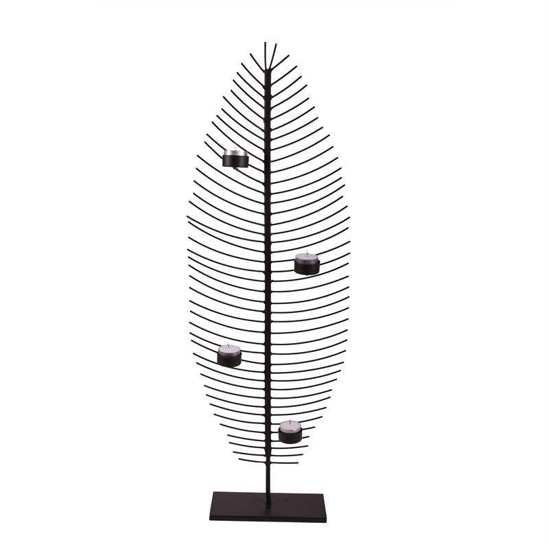 Wire Leaf Sculpture L-4 T-Lite