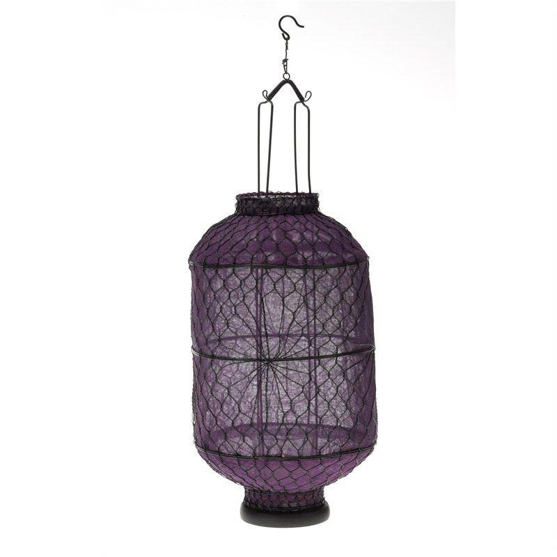 Medium Wire Lantern - Purple