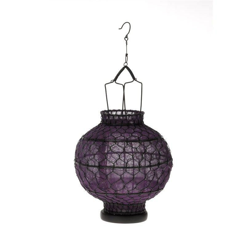 Round Wire Lantern - Purple