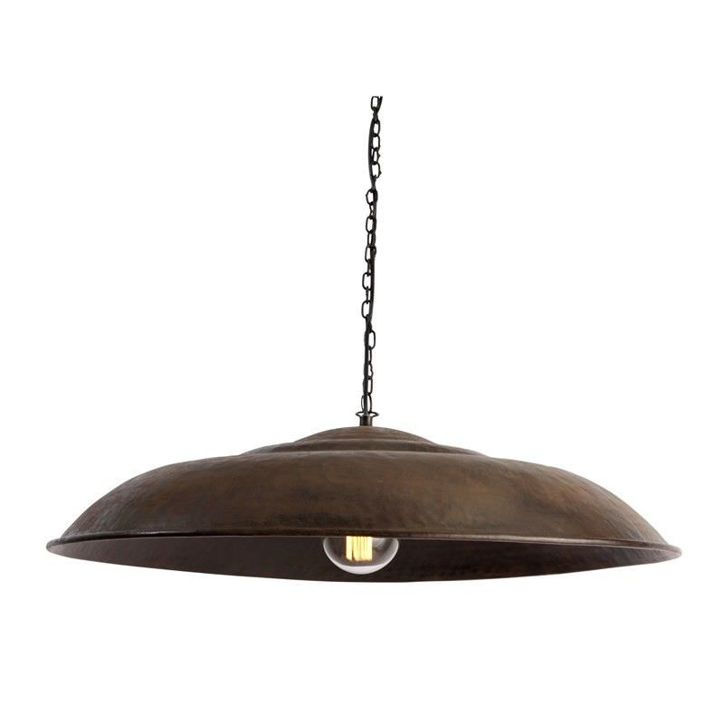 Antique Iron Gong Shade Pendant Light - Antique Bronze