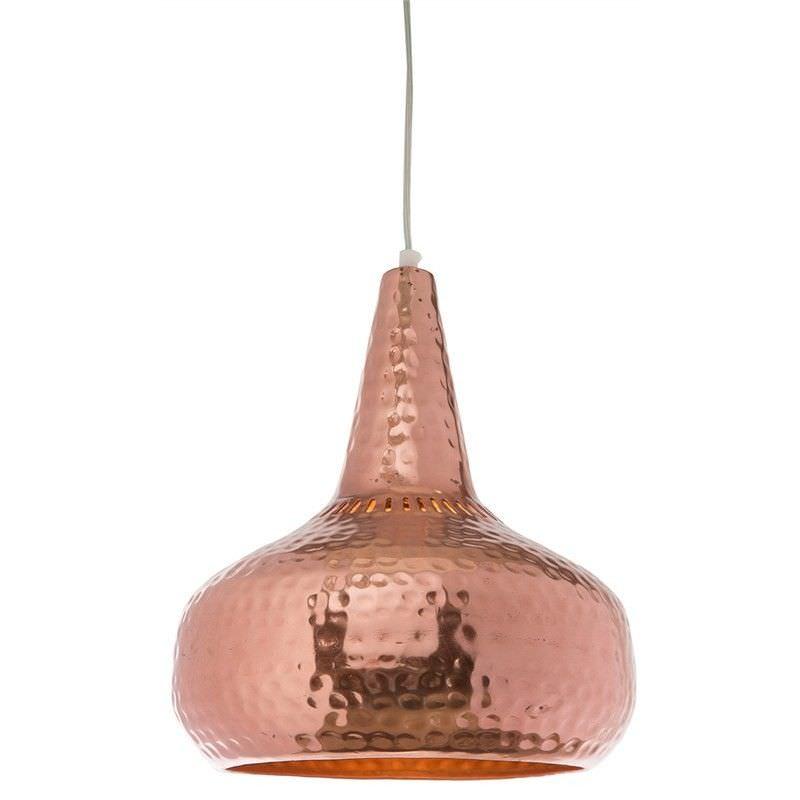Lunar Large Iron Pendant Light - Copper