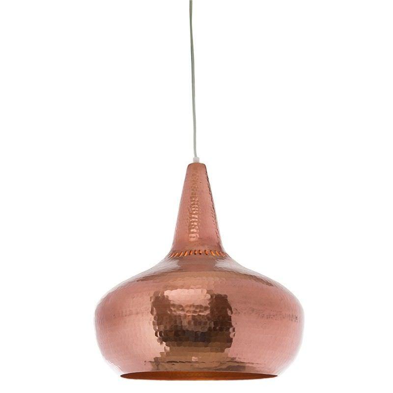 Lunar Medium Iron Pendant Light - Copper