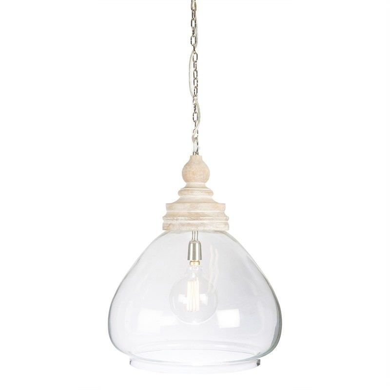 Haven Timber And Glass Pendant Light