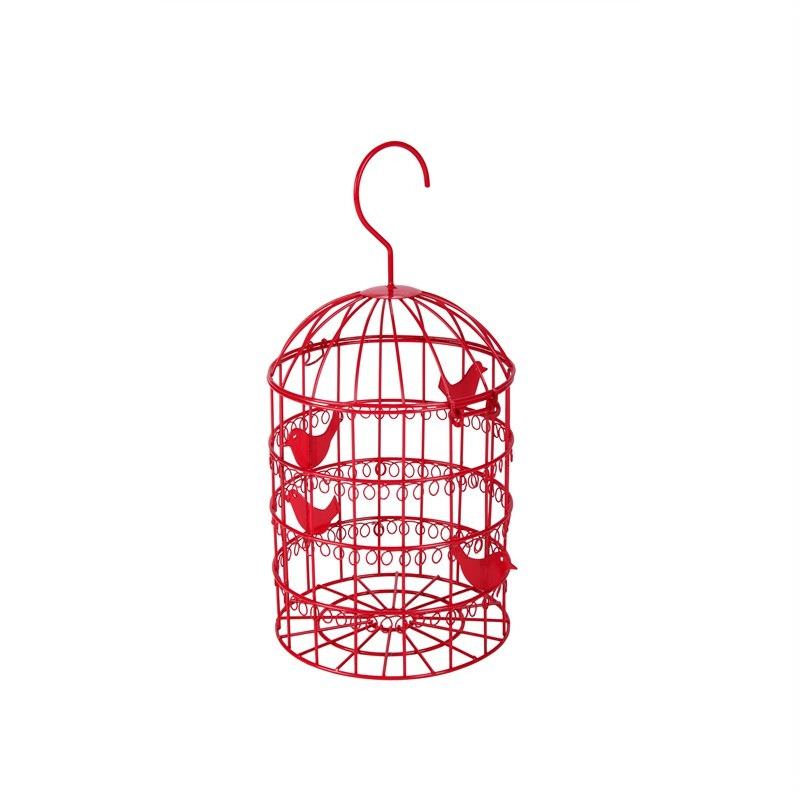 Birdcage Jewel Stand-Red