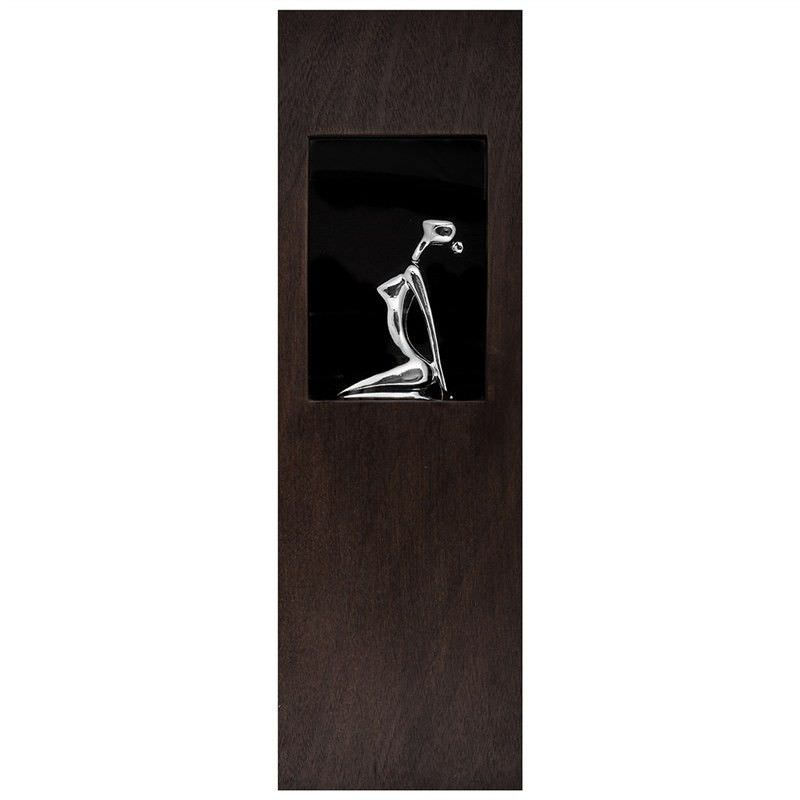 Kneeling Statue Wooden Framed Wall Art