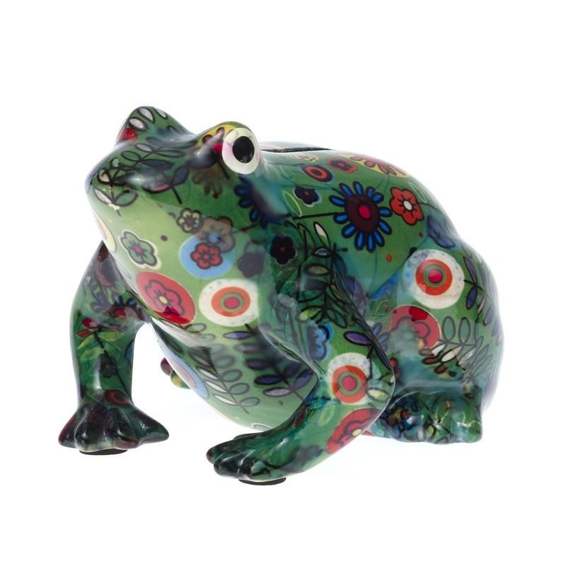 Frog Bank - Dark Green - L16 x W13 x H12cm