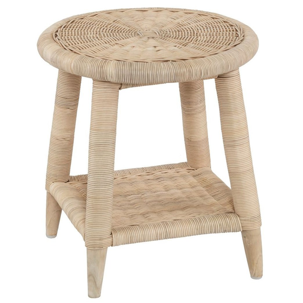 Indah Rattan Round Side Table