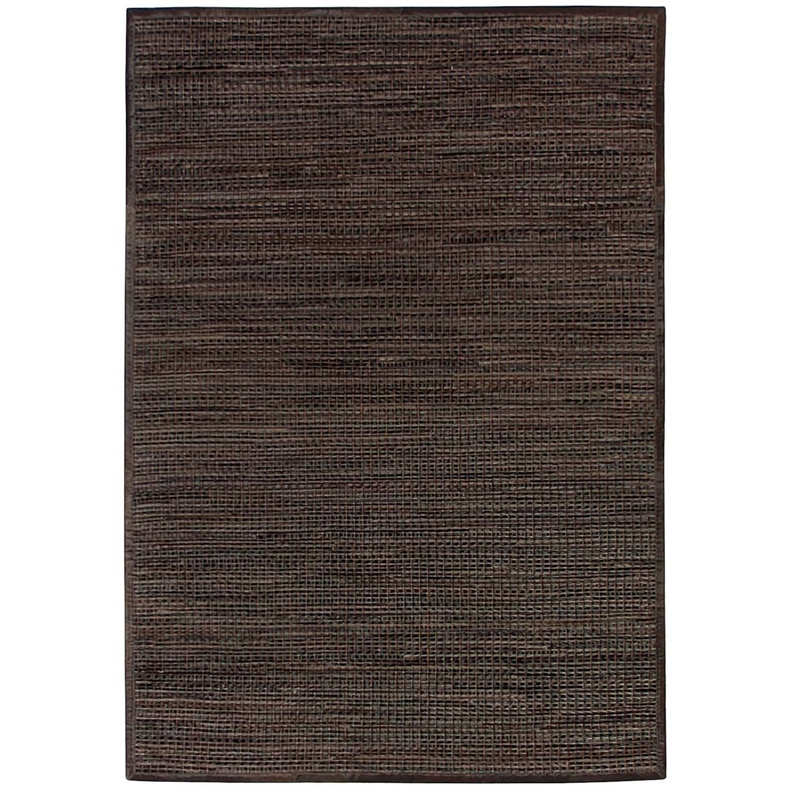 Chase Handwoven Hide & Leather Rug, 250x300cm, Cocoa