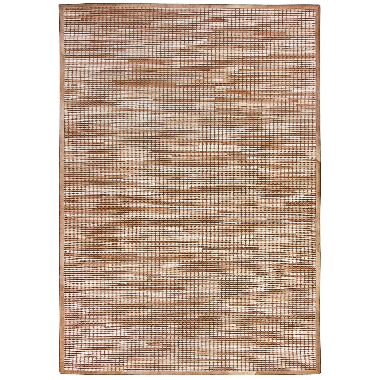 Chase Handwoven Hide & Leather Rug, 250x300cm, Natural