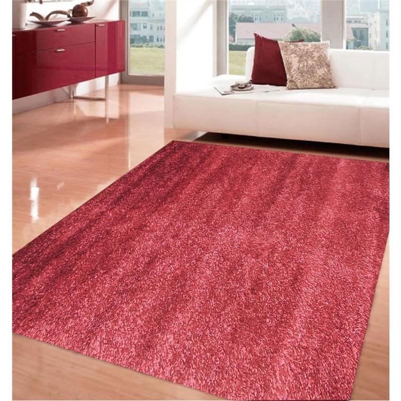 Comfy Shag Rug - Plain Red 160 X 230CM