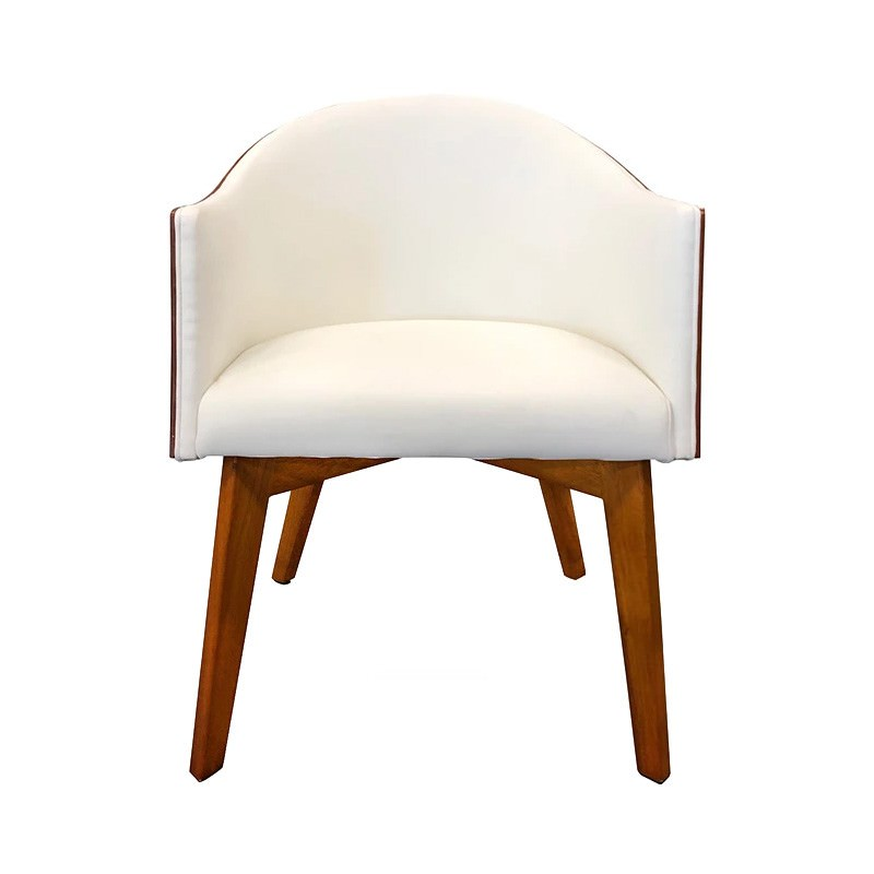 Ringo PU Leather & Wood Lounge Armchair