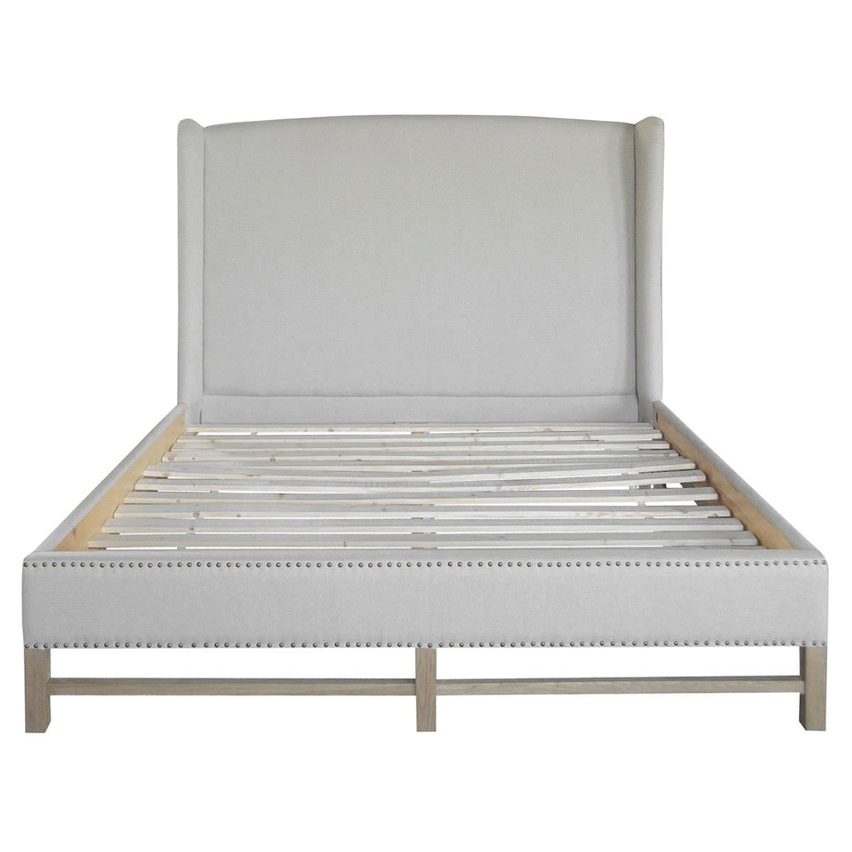 Terrace Linen Fabric Bed, Queen, Oatmeal
