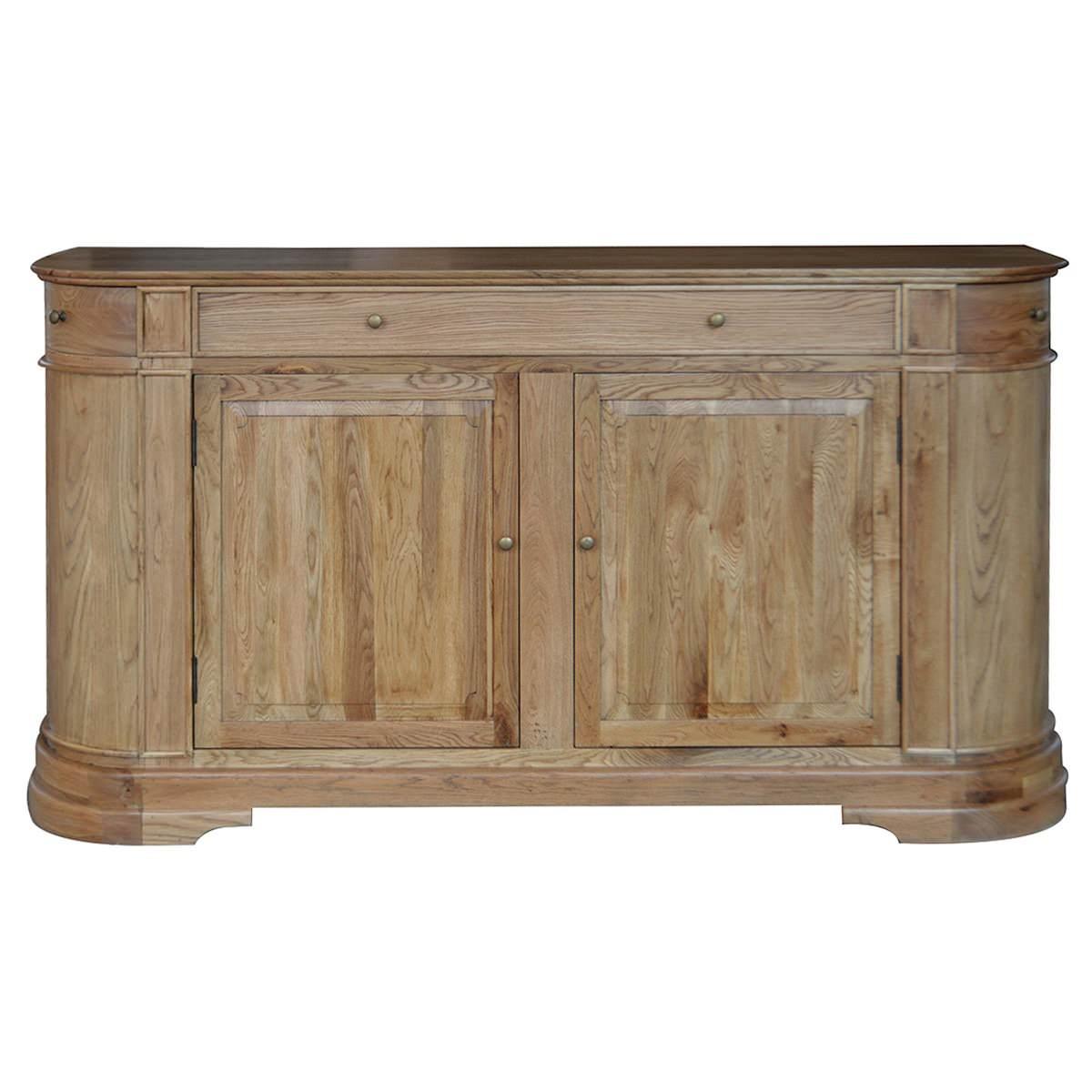 William John Oak Timber 2 Door 3 Drawer Sideboard, 183cm, Natural Oak