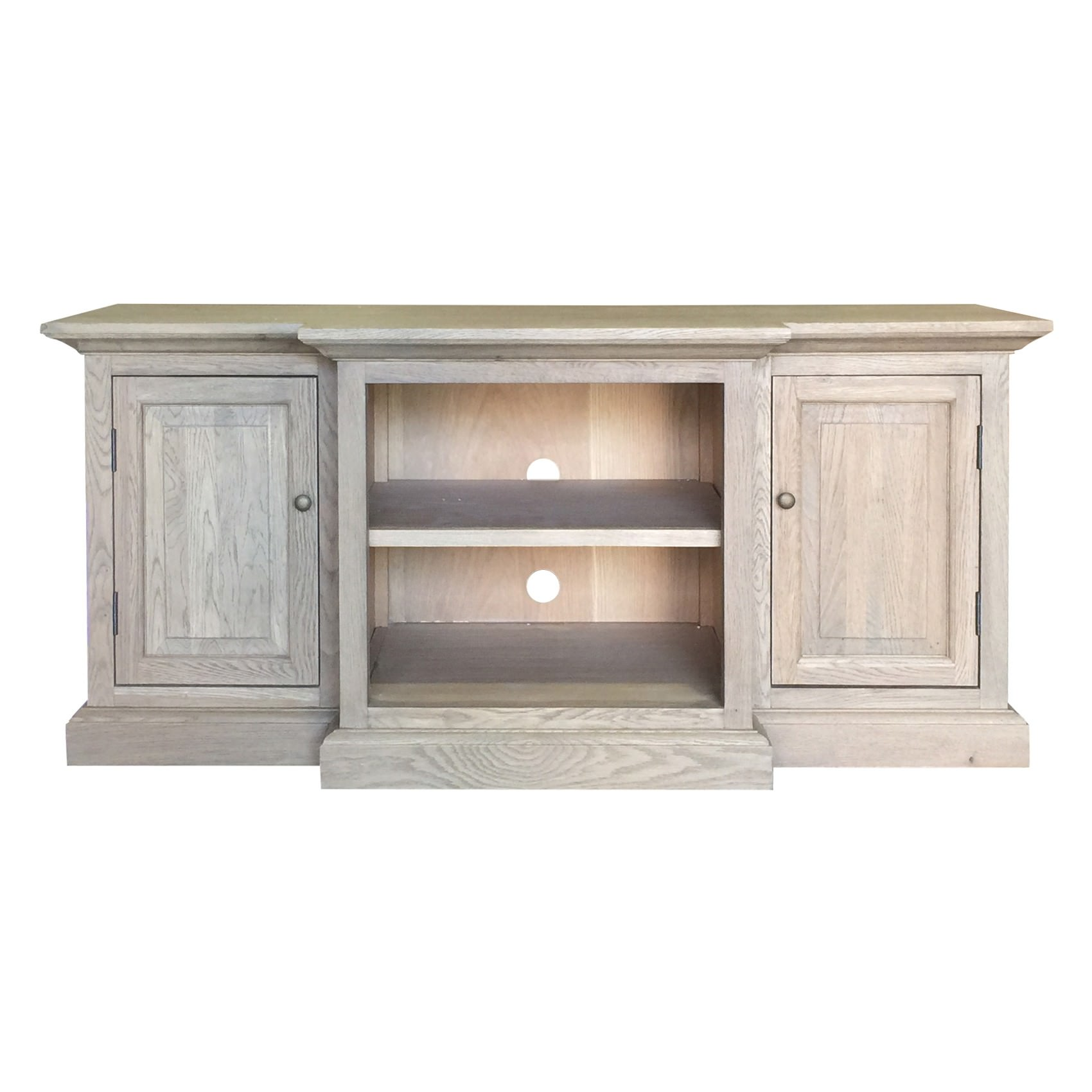 Oakland Oak Timber 2 Door TV Unit, 144cm, Weathered Oak