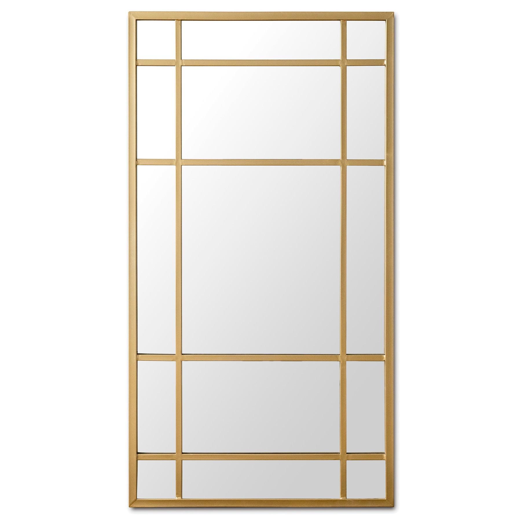 Milner Iron Frame Wall Mirror, 180cm