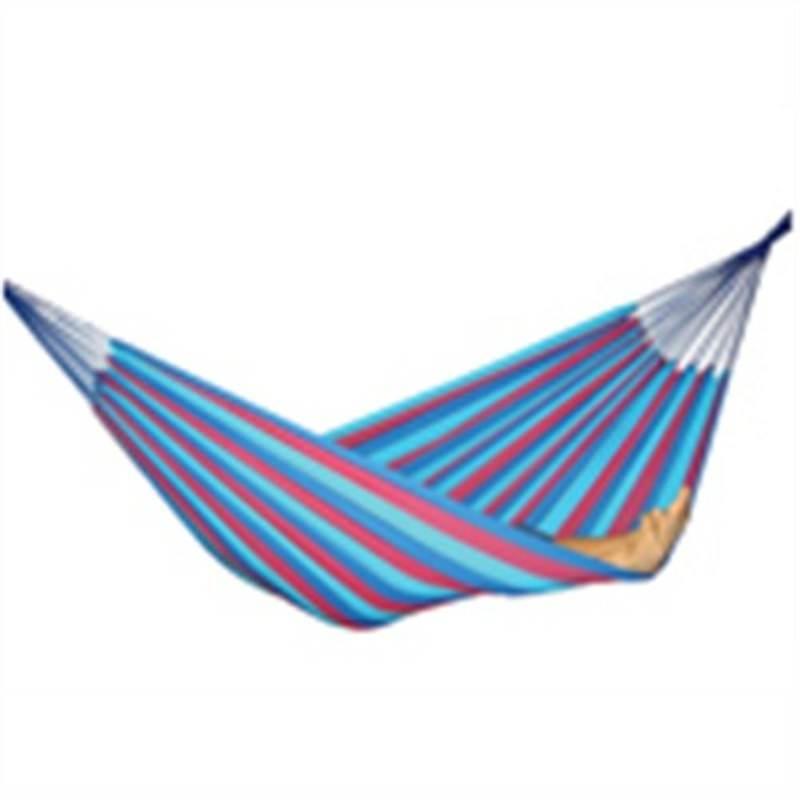 Zen Single Hammock - purple-blue stripe