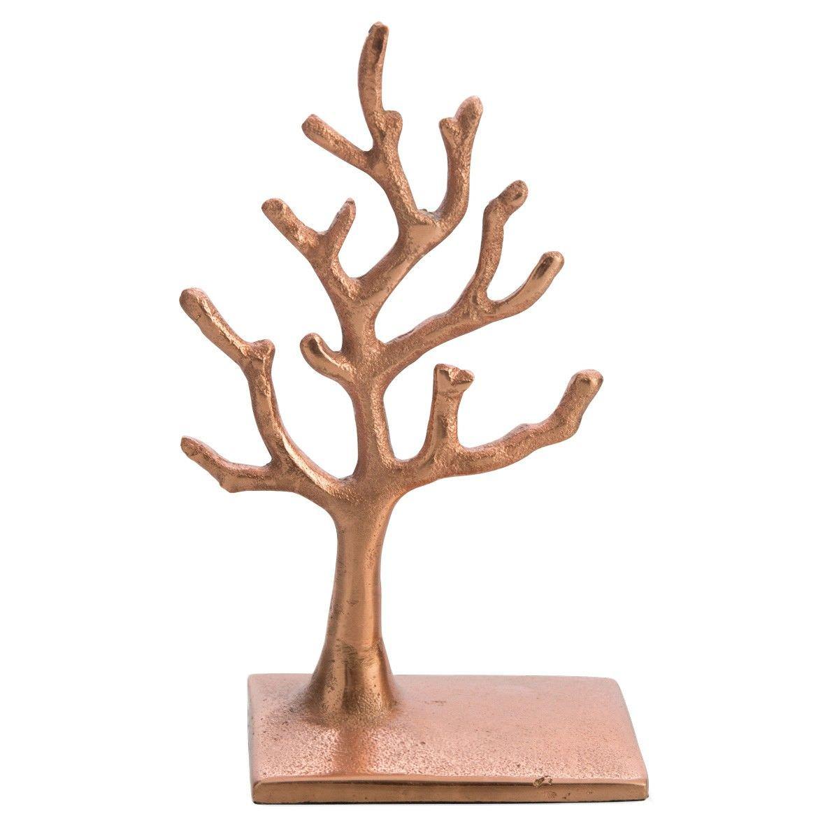 Tallula Aluminium Jewellery Tree, Small, Copper