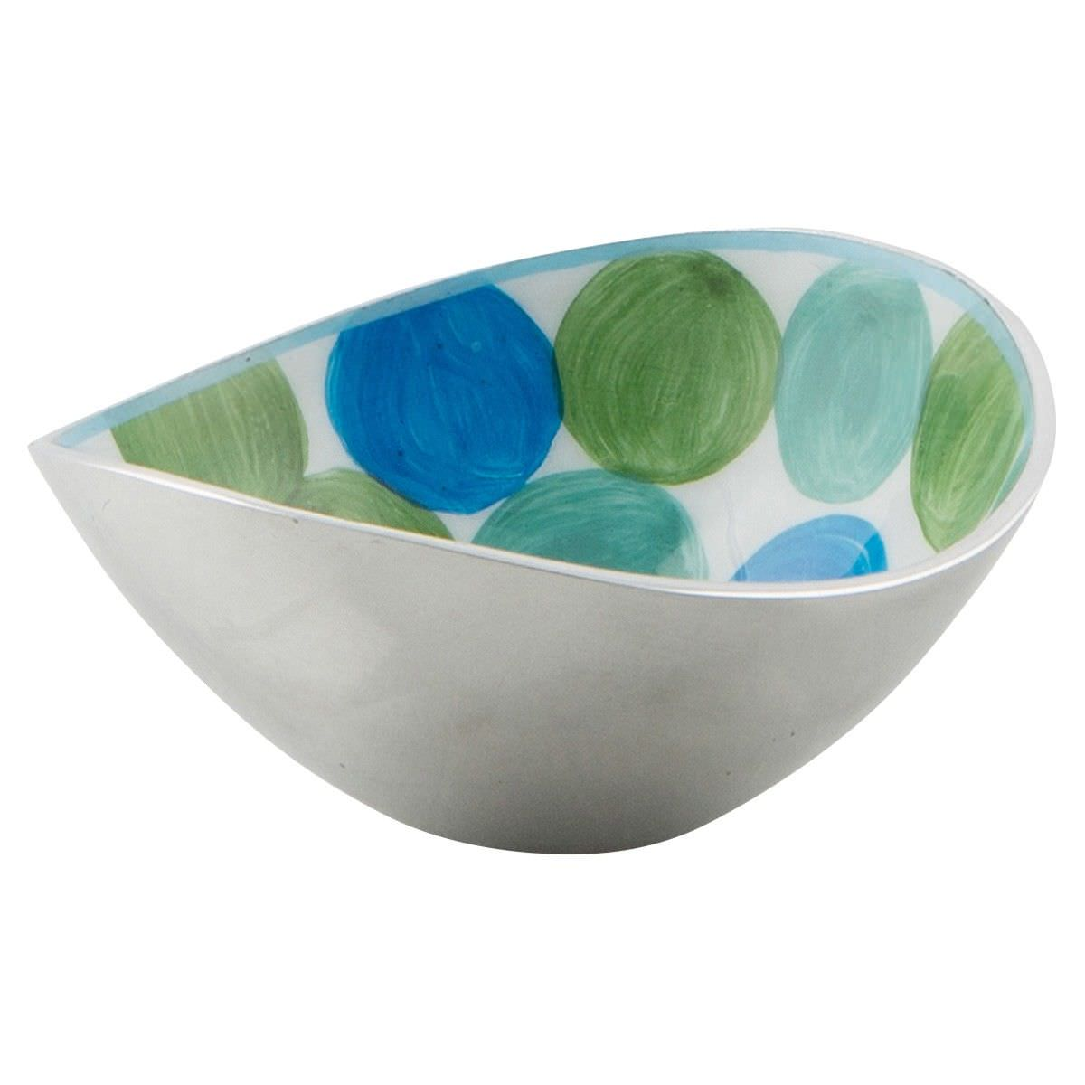 Summer Pond Enamelled Aluminium Oval Bowl, Small