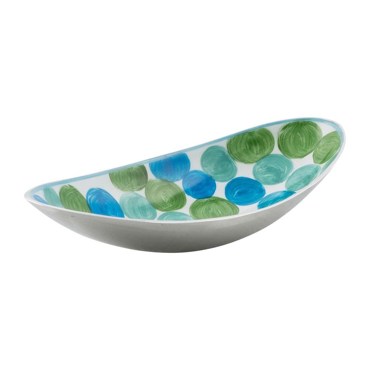 Summer Pond Enamelled Aluminium Oval Bowl, Medium