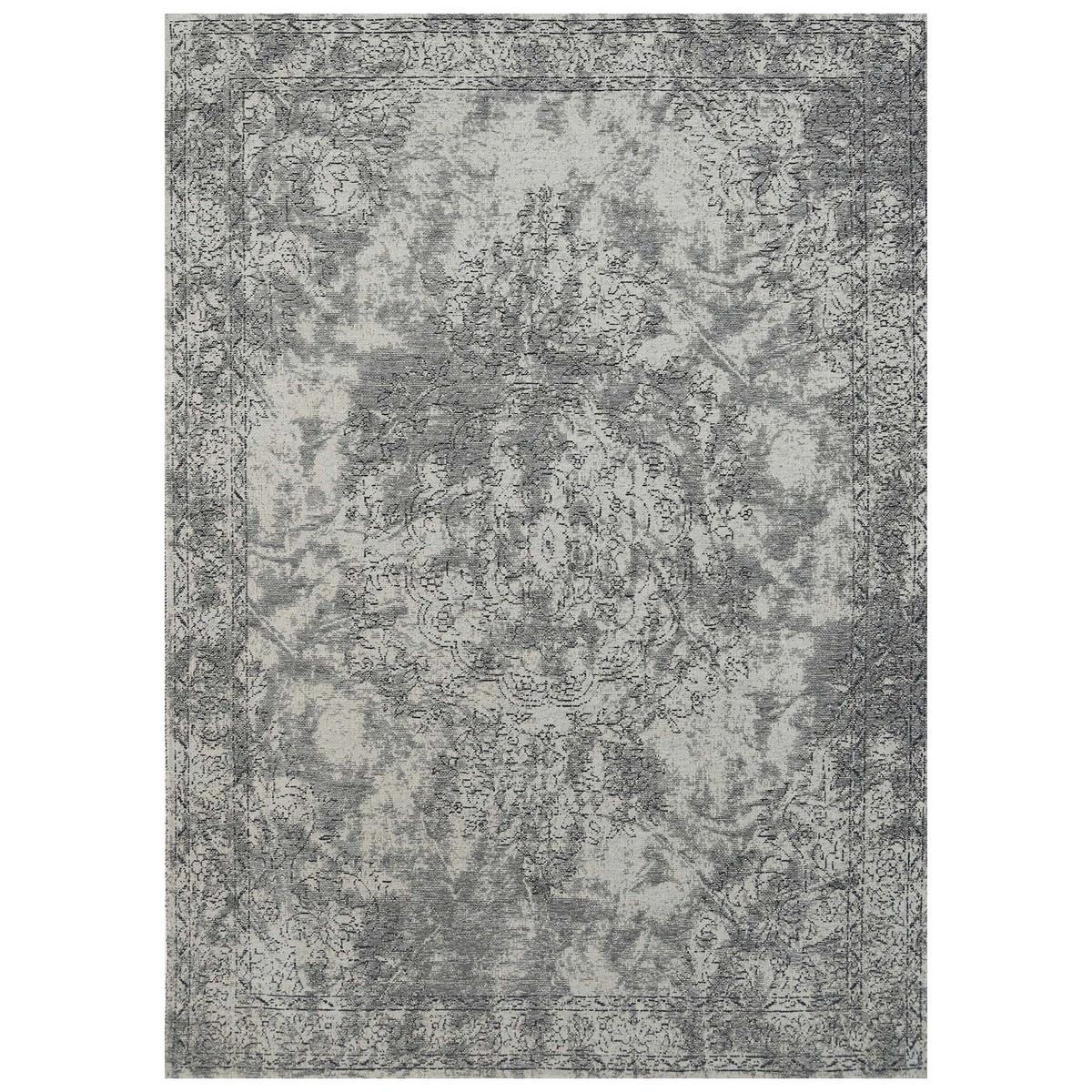Celeste Chenille & Cotton Bohemian Medallion Rug, 80x150cm, Grey