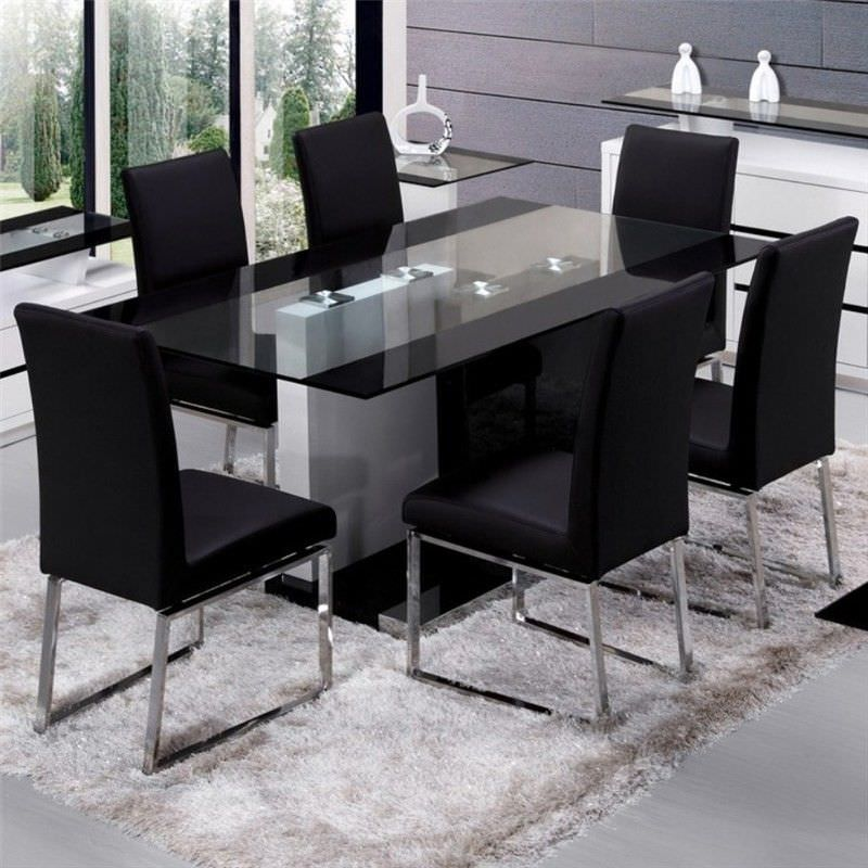 Houston Glass Top 210cm Dining Table Table Only