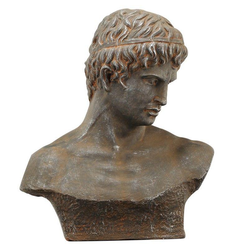 Atticus Fiberglass and Magnesium Bust Figurine