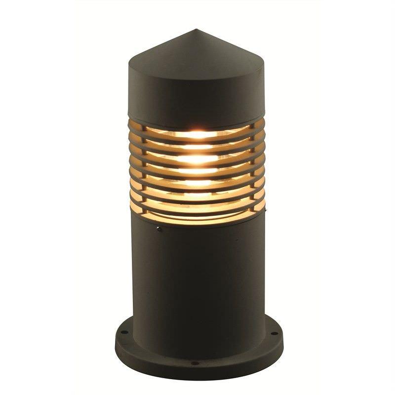 Narrabeen 52cm External Louver Aluminium Exterior Bollard Light - Black