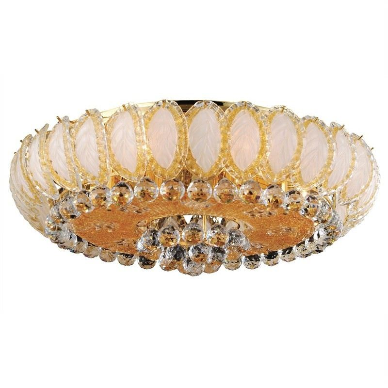 Shanghai Gold Plated Crystal 6 Light Ceiling Light