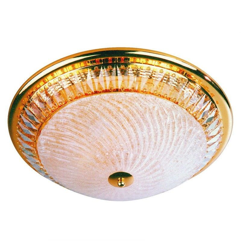 Tang Gold Plated Crystal 6 Light Ceiling Light