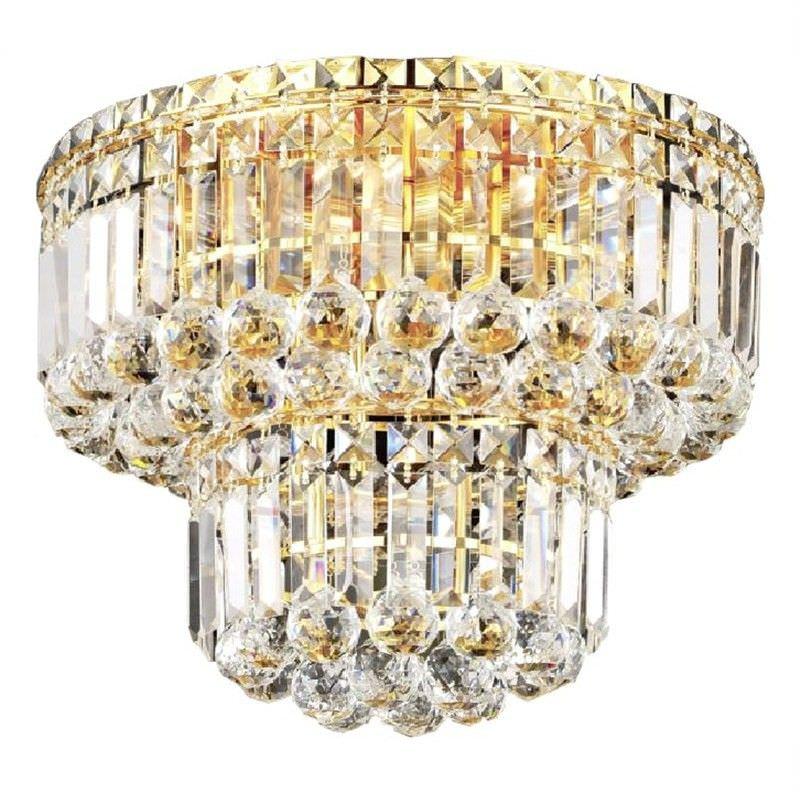 Steppe Crystal 7 Light Ceiling Light  - Gold