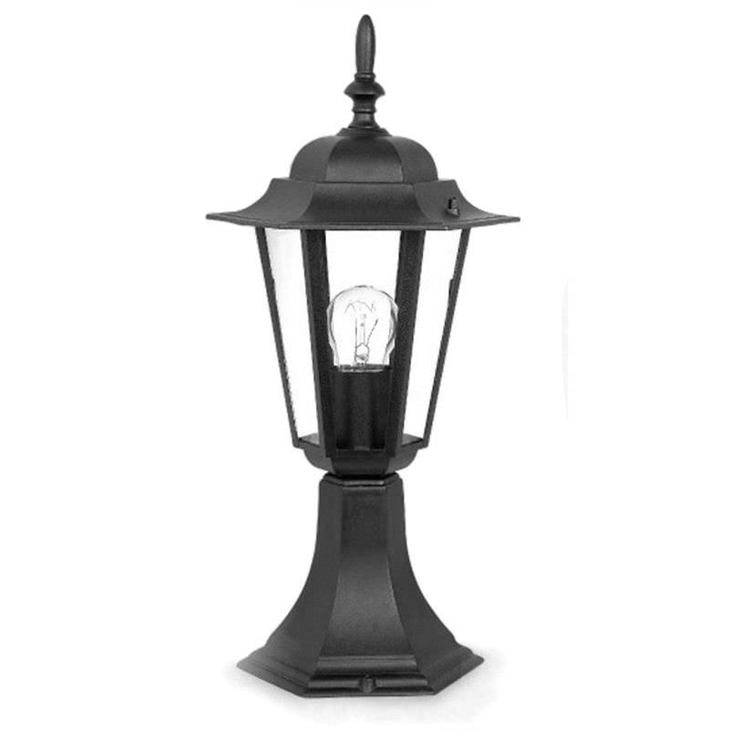 Byron Small Cast Aluminium IP33 Exterior Pillar Mount Post Lantern - Black