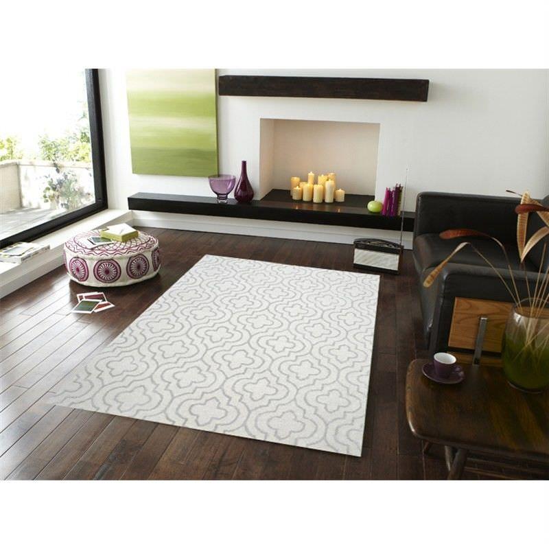 Decotex No.1061 Modern Wool Rug in Ivory - 160x230cm